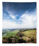 Dawn Landscape In Springtime Fleece Blanket