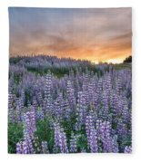 Dawn Of Lupine Fleece Blanket