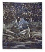 Dawn Of The Moon Fleece Blanket