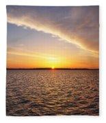 Dawn On The Chesapeak - St Michael's Maryland Fleece Blanket