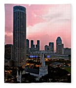 Dawn Over Singapore Fleece Blanket