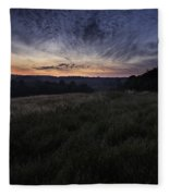 Dawn Over The Hills Fleece Blanket