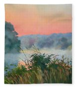 Dawn Reflection Fleece Blanket