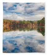 Dawn Reflection Of Fall Colors Fleece Blanket