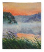 Dawn Reflection Study Fleece Blanket