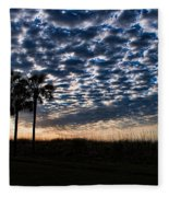 Dawn Silhouettes Fleece Blanket