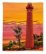 Dawn's Light At Little Sable Fleece Blanket