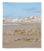 Day At The Moroccan Fishing Village Fleece Blanket