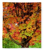 Day Glo Autumn Fleece Blanket