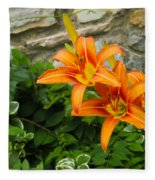 Day Lilly Fleece Blanket
