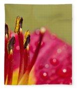 Day Lily Dew Fleece Blanket