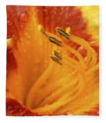 Day Lily In The Rain - 688 Fleece Blanket