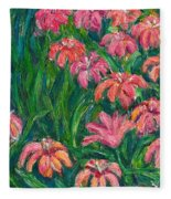 Day Lily Rush Fleece Blanket