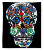 Day Of The Dead Skull Fleece Blanket