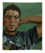 Day Portrait Of A Young Man Fleece Blanket