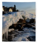 Daybreak At Cove Point Lodge Cottages Fleece Blanket