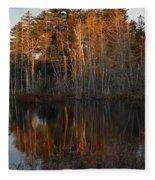 Daybreak At The Pond Fleece Blanket