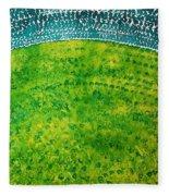 Daybreak Original Painting Fleece Blanket