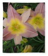 Daylilies Fleece Blanket