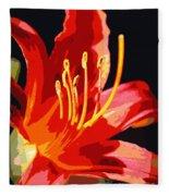 Daylily Flame Fleece Blanket