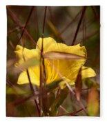 Daylily In Autumn Fleece Blanket