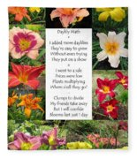 Daylily Math Fleece Blanket