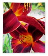 Daylily Twice Fleece Blanket