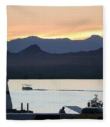 Days End At The Lake Fleece Blanket