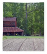 Days Gone By--tobacco Barn Series  Fleece Blanket