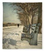 Days Of Cold Chills Fleece Blanket