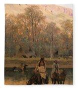 Days Of Long Ago Fleece Blanket