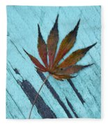 Dazzling Japanese Maple Leaf Fleece Blanket