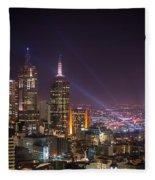 Dazzling Melbourne Fleece Blanket