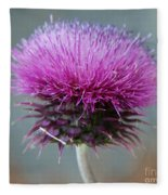 Dazzling Thistle Beauty Fleece Blanket