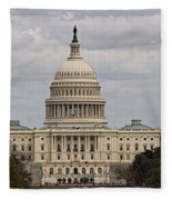 Dc Capitol Building Fleece Blanket