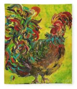 De Colores Rooster #2 Fleece Blanket