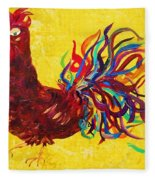 De Colores Rooster Fleece Blanket