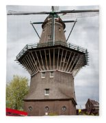 De Gooyer Windmill In Amsterdam Fleece Blanket