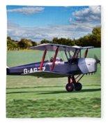 De Havilland Tiger Moth Fleece Blanket