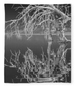Dead Arch Black And White Fleece Blanket