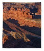Dead Horse Point Sunrise Panorama Fleece Blanket