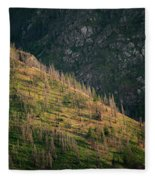 Dead Pines Cover A Steep Slope Fleece Blanket