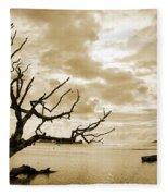 Dead Tree And Sea Fleece Blanket