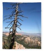 Dead Tree At Bryce Canyon  Overlook Fleece Blanket