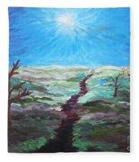 Dead Trees On The Moor Fleece Blanket