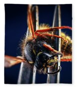 Dead Wasp On A Fork Fleece Blanket