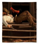 Deaf To The Rooster's Call Fleece Blanket