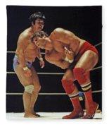 Dean Ho Vs Don Muraco In Old School Wrestling From The Cow Palace Fleece Blanket