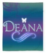 Deana Name Art Fleece Blanket