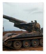 Death Dealer II  8 Inch Howitzer  At Lz Oasis Vietnam 1968 Fleece Blanket